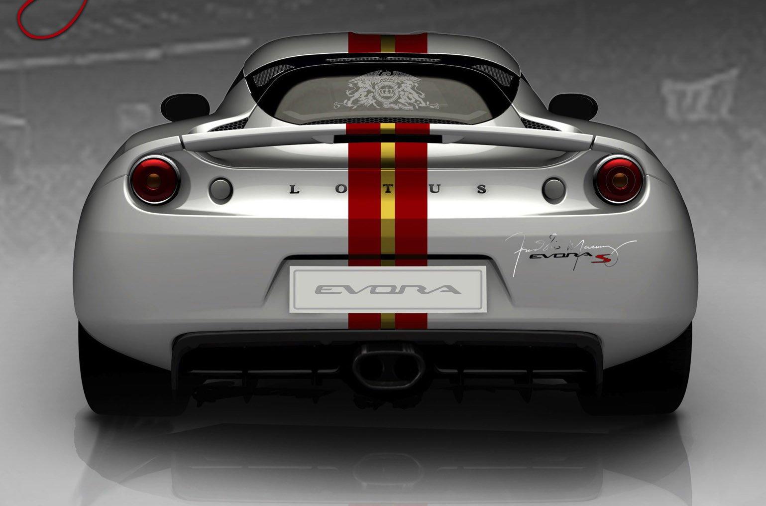 Lotus Evora S Freddie Mercury arriere